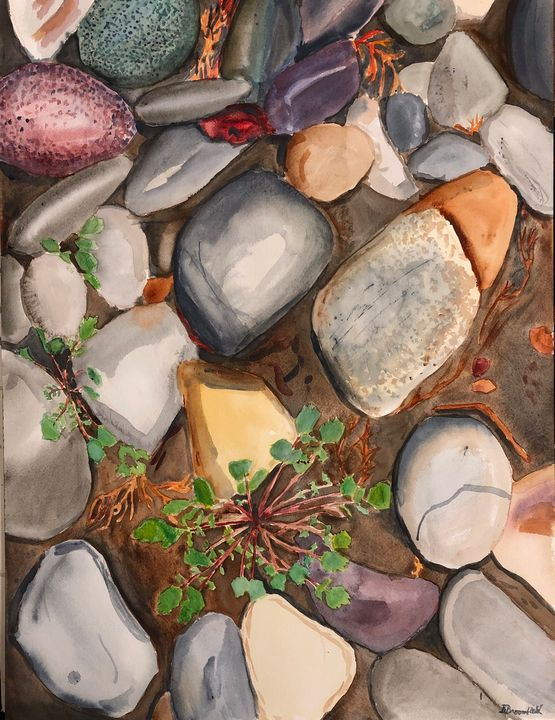 Rocks with Greens - Blandine Broomfield