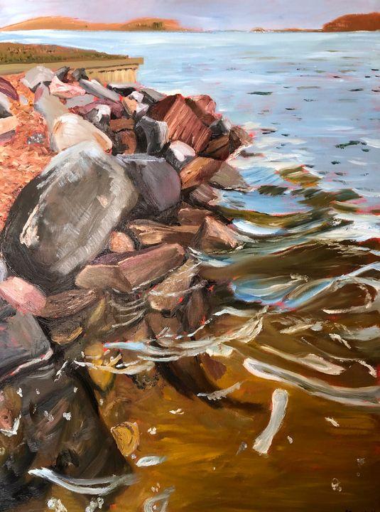Rocks in the Water at Ulmstead Beach - Blandine Broomfield