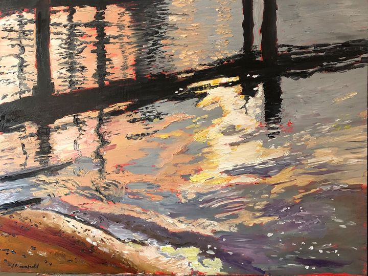 Green Haven Wharf at Sunset - Blandine Broomfield