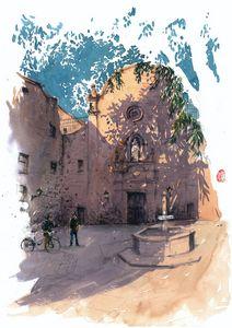 The Wall of Plaça de Sant Felip Neri