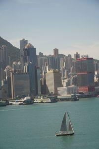 sailing on Victoria Harbour Hong Kon