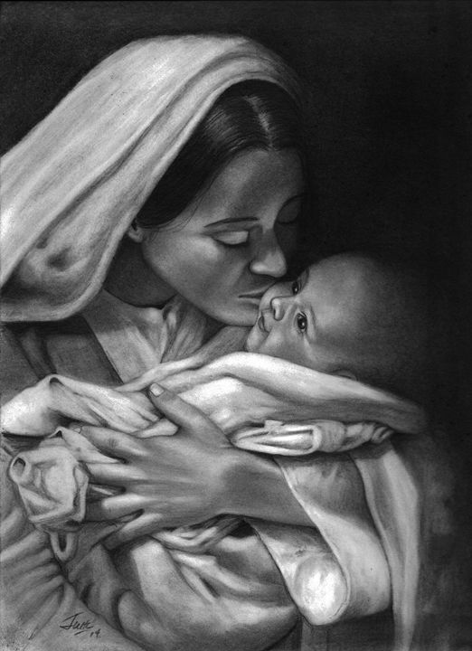 Mother Love (Mary & Jesus) - Prisoner Art