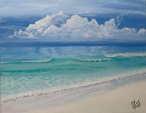 Destin Beach - Art by Lisa Isom