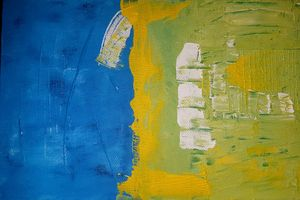 """Yellow Over Blue"""