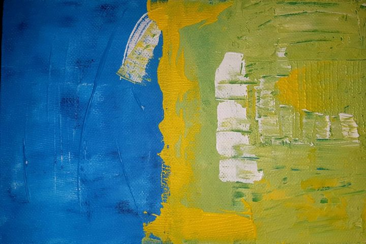 """Yellow Over Blue"" - Matko's Gallery"