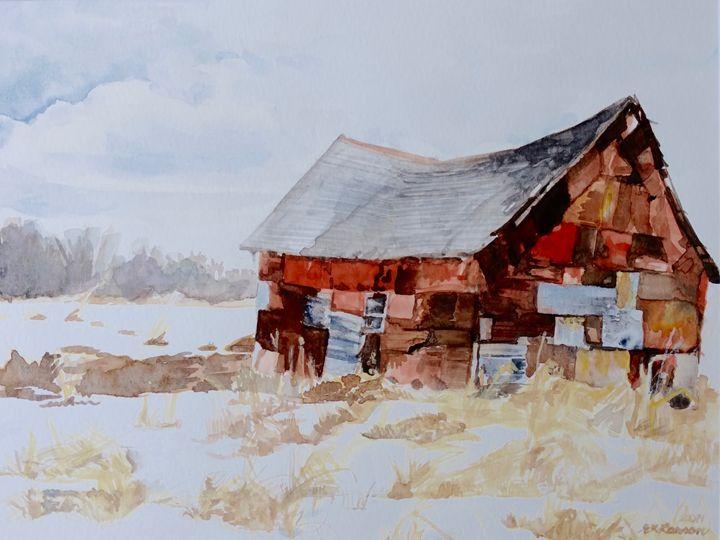 "Barn 5"" x 7"" Greeting Card Print - Elysia Larson Studio"
