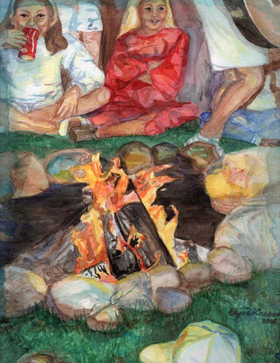 Campfire! - Elysia Larson Studio