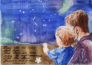 """Stars 5"""" x 7"""" Print Greeting Card"""