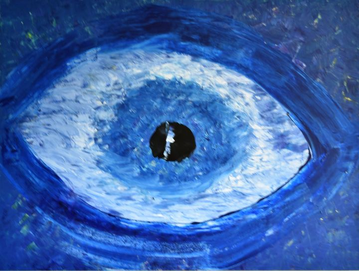 """Blue Eye"" - Tipasso Art by humberto"