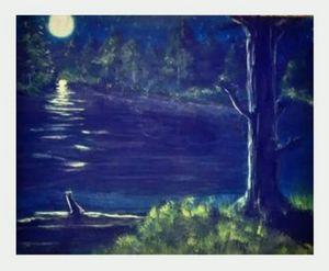 Peaceful moonlite night