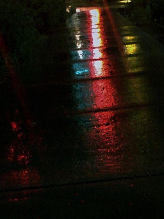 Neon rain walk - BeholdersEyes
