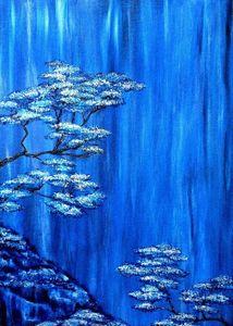 Синий пейзаж