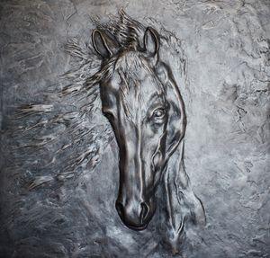 Лошадь. Барельеф.