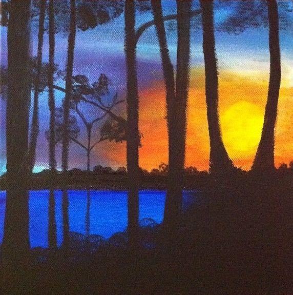 Watching the sunrise - Artworks