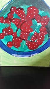 BOWL OF STRAWBERRIES - Lija augustine
