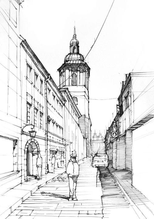 Street sketch - Widok