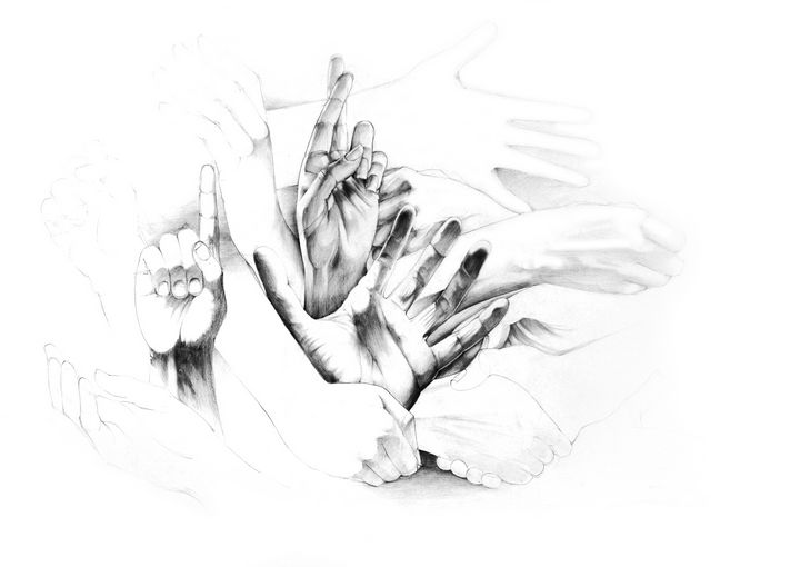 Hands study - Widok