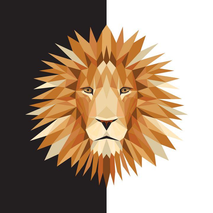 Lion 1:1 black n white - Widok