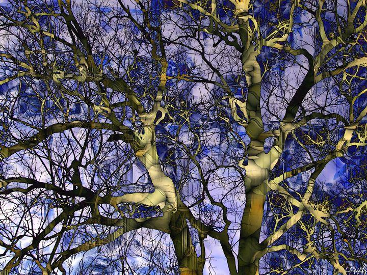 Abstract Trees Blues - Lothar Boris Piltz