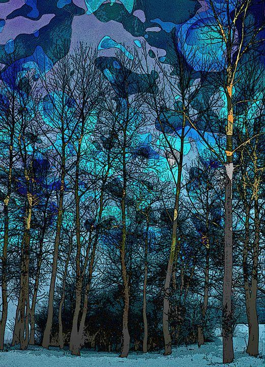 Trees in Blue - Lothar Boris Piltz