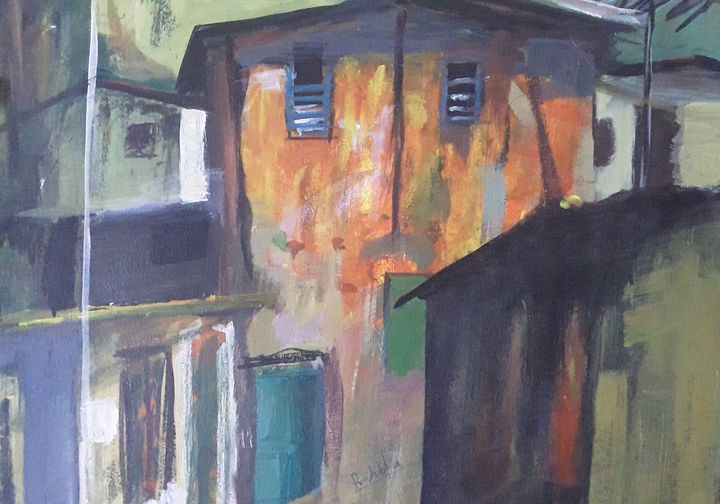 city scape - Paintings