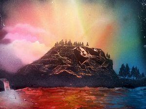 Brilliant Lake Sunset