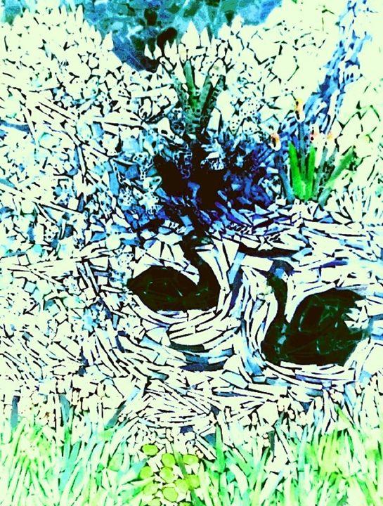 swans dance - ManneKens Wall Art