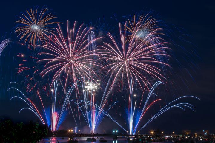 Patriotic Fireworks - Through Jenn's Lens Photography