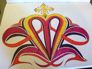 Royal crown of hearts