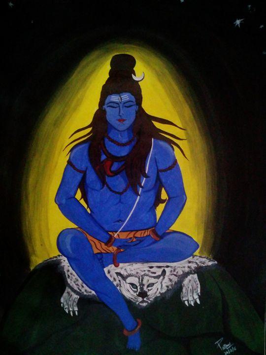 Lord Shiva painting - Pallavi