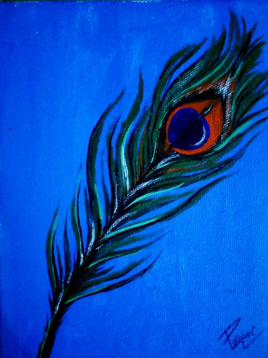 Peacock Feather Painting - Pallavi