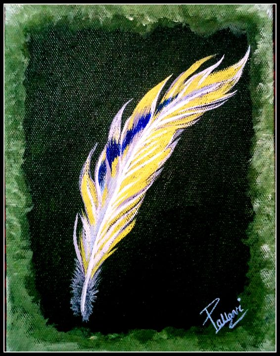 Feather painting - Pallavi