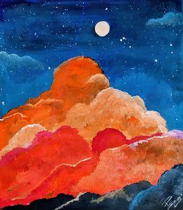 Moon Light evening Clouds