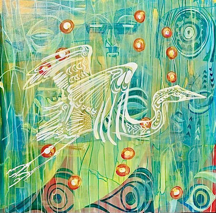White heron - Ylana Stelling
