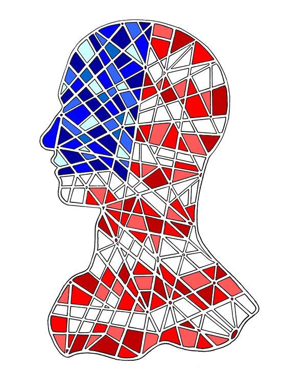 American mozaic head - Designer Francais
