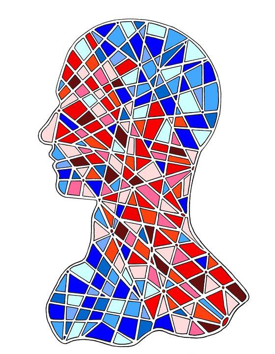 Origin mozaic head - Designer Francais