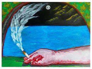 Cigarette at night