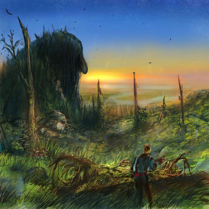A Legend Turns To Stone - Tobias Ryen Amundsen Artwork