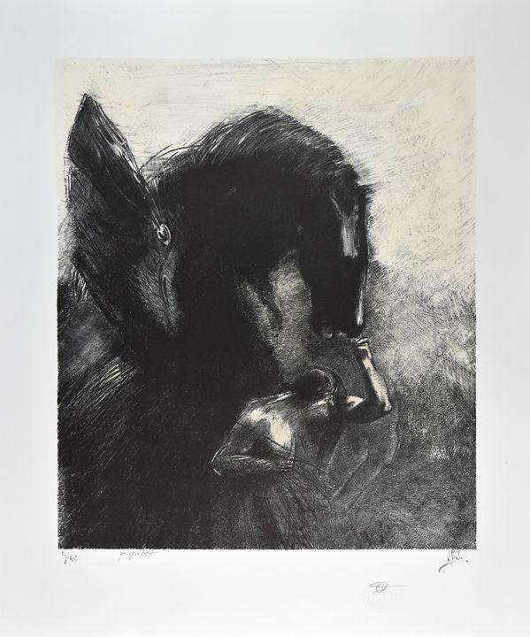 Odilon REDON, Captive Pegasus 1889 - FRANCE ART DIFFUSION