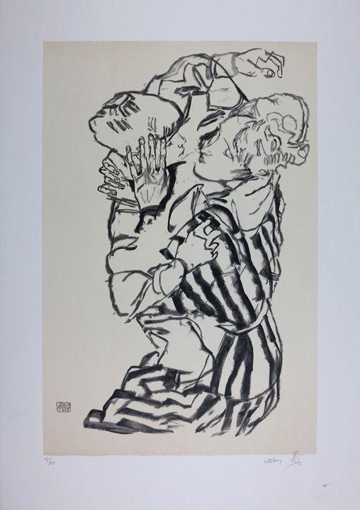 "E. SCHIELE ""The Mother & the Child"" - FRANCE ART DIFFUSION"