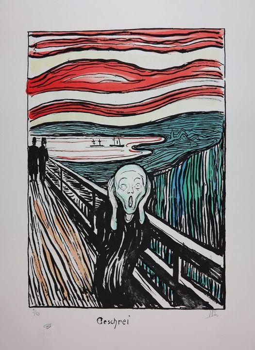 "EDVARD MUNCH ""The Scream"" 1895 - FRANCE ART DIFFUSION"