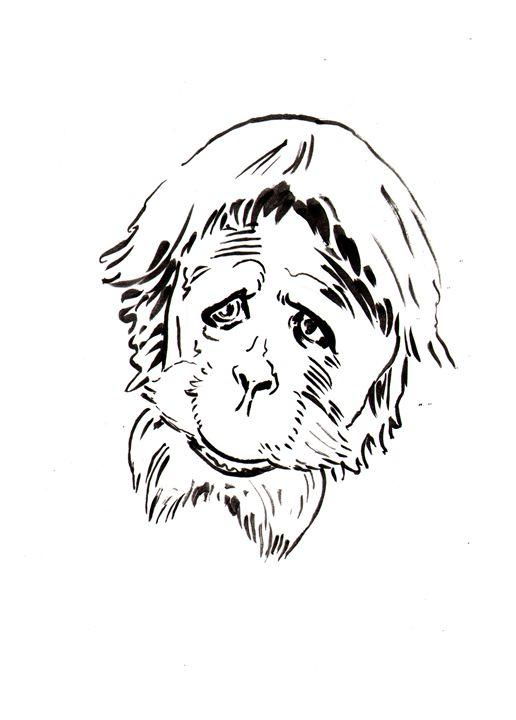 Peotr the Orangutan - Robert Berry's Drawing Table
