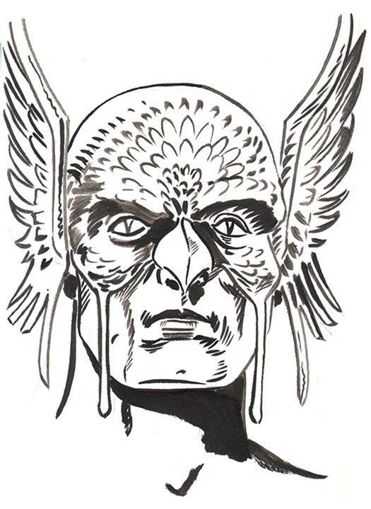 Hawkman - Robert Berry's Drawing Table