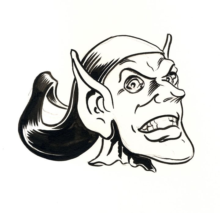 Green Goblin - Robert Berry's Drawing Table