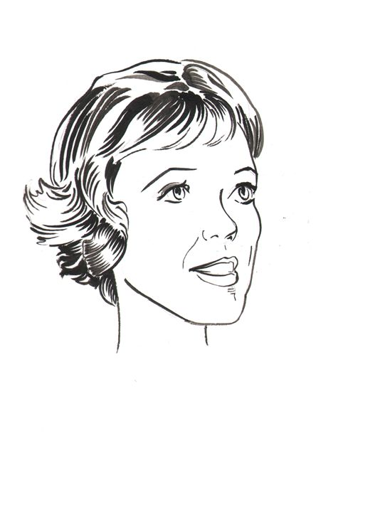 Julie Andrews - Robert Berry's Drawing Table