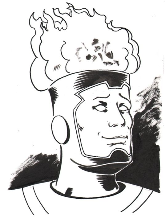 Firestorm - Robert Berry's Drawing Table