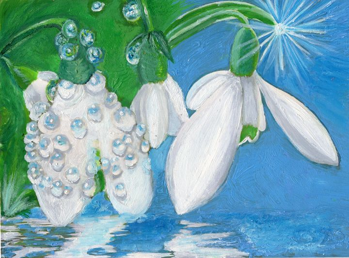 Spring snowdrops - Eliza Claudia