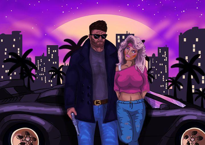80's characters concept art. - comic art