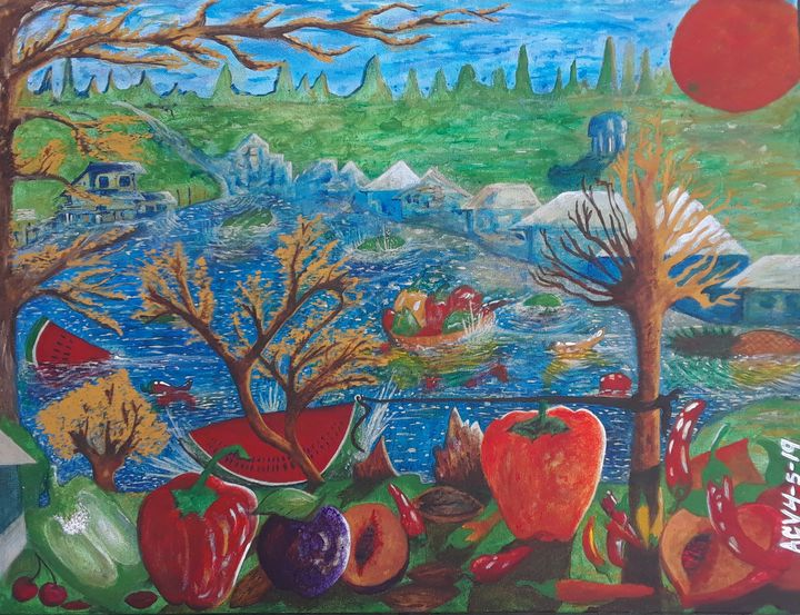 Vegetables, Fruits, Summer, Winter - Ultra Amazing Art : Alvin Christopher Venible