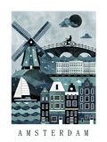 Amsterdam Travel Poster